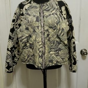 H&M Black and Tan Jacket size 10